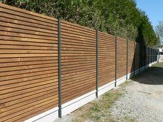 Fence Design, Garden Design, House Design, Outdoor Walls, Outdoor Decor, Houses In France, Outdoor Restaurant, Modern Fence, Garden Fencing