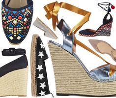 Espadrille Season! Best shoes to wear in spring and summer. Wedges, flats and sandal espadrilles are perfect for warm weather outfits!