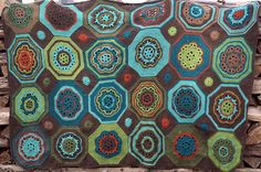 Ravelry: Project Gallery for Moorish Mosaic Afghan pattern by Lisa Naskrent