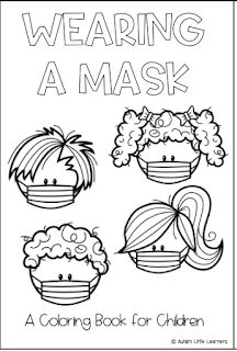 I had some requests to make the Mask Story into a black and white pdf so children can color the pages. I was able to put that toge. Beginning Of The School Year, New School Year, Back To School, Social Emotional Learning, Social Skills, Home Learning, Special Education, Baby Education, Kindergarten Classroom