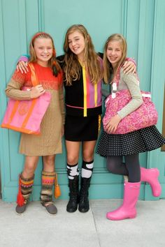 these girls remind me of my little fashionistas...pretty things