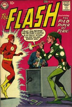 Is The Flash faster than the speed of sound? Also: Introducing Gorilla Grodd (DC had yet to discover the thrills of putting apes on comic book covers)! Dc Comic Books, Vintage Comic Books, Comic Book Artists, Vintage Comics, Comic Book Covers, Comic Art, Dc Comics, Flash Comics, Silver Age Comics