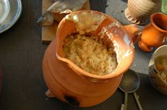 """14th century recipe for """"ceci con ove"""", chickpeas with eggs and cheese. For Ellen. (Bonus: Dutch blogmaster!) http://thomasguild.blogspot.com/2014/09/ceci-con-ove.html"""