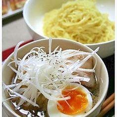 あつあつスープのつけ麺 レシピ・作り方