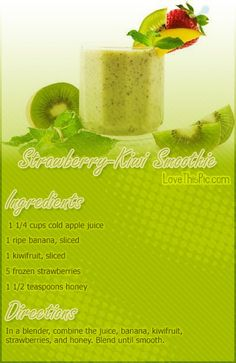 Strawberry Kiwi Smoothie Recipe Pictures, Photos, and Images for Facebook, Tumblr, Pinterest, and Twitter