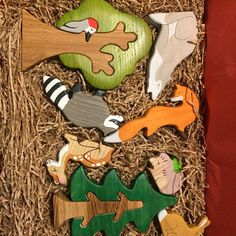 Waldorf Playroom, Waldorf Toys, Pet Toys, Kids Toys, Wooden Tree, Nature Table, Baby Teethers, Wooden Animals, Bunny Toys
