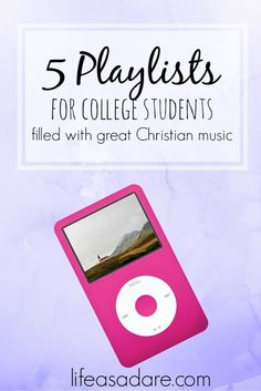 5 Christian Music Playlists for College Students – Life as a Dare – Hack 2020 Christian College, Christian Girls, Christian Songs, Christian Faith, Christian Living, College Girls, College Life, Dorm Life, Was Ist Pinterest