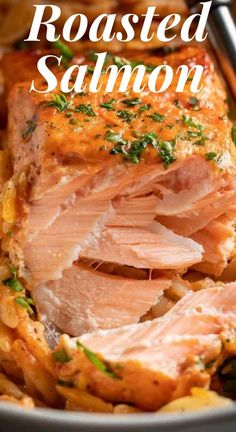 This Roasted Salmon with Orzo recipe is a restaurant-quality dinner that you can easily make at home. The creamy vodka sauce makes the salmon taste so good! #pasta #salmon #salmonrecipe #roastedsalmon #amazingrecipe #quickrecipe #amazingrecipe Orzo Recipes, Top Recipes, Salmon Recipes, Side Dish Recipes, Sauce Recipes, Seafood Recipes, Salmon And Orzo Recipe, Salmon Pasta, Easy Roasted Potatoes