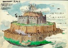 """""""Castle in the Sky 天空の城ラピュタ"""" by 宮崎 駿 Hayao Miyazaki* 