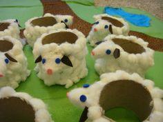 Olvasói Alkotás: Wc papír gurigából Barikák tojástartónak / Eggs holder as lambs made up of toilet paper rolls |