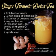 Curcumin Benefits: Understanding This Powerful Antioxidant Ginger Turmeric Detox Tea smoothies Tumeric Detox, Ginger Detox, Lemon Detox, Turmeric Tea, Detox Tea, Cleanse Detox, Juice Cleanse, Tumeric Water, Natural Detox Cleanse