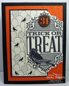 Witches' Night Halloween Trick Or Treat, Halloween Cards, Spooky Halloween, Paper Halloween, Halloween Stuff, Fall Cards, Stampin Up Cards, Decor Crafts, Card Making