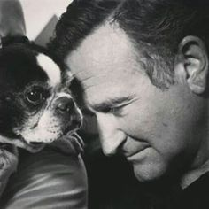 Robin Williams and Boston Terrier