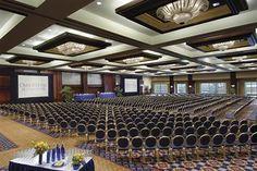 Grand auditorium of Omni Hotel. Us Travel, Travel Tips, Atlanta Wedding Venues, Atlanta Hotels, Us Destinations, Best Places To Eat, Auditorium, Lifestyle Blog, Travel Inspiration