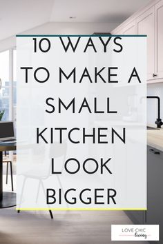 Looking for farmhouse decor on a budget that even Joanna Gaines would approve of? These inexpensive Make Kitchen Look Bigger, Big Kitchen, Rustic Kitchen, Kitchen Living, Kitchen Ideas, Kitchen Decor, Kitchen Trends, Kitchen Layout, Kitchen Designs