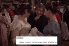 Post with 108 votes and 5959 views. Tagged with funny, jane austen, pride and prejudice; Apparently Pride and Prejudice memes exist! Dc Movies, Movie Tv, Bbc, Jane Austen Books, Mr Darcy, Fandoms, Classic Literature, Pride And Prejudice, Period Dramas