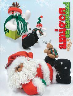 Moldes o patrones para elaborar hermosos muñecos navideños ALBUM 54 WhatSapp +584124278063