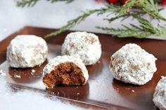 Chocolate Snowball Cookies   Recipe Girl