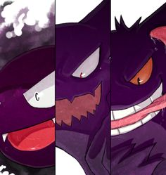 Ghastly, haunter, and gengar Pokemon