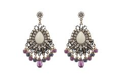 Naomi. Antique gold, opal fancy fusion bead earring. SBY Jewellery