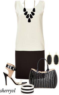 """Tara Jarmon Dress"" by sherryvl on Polyvore"