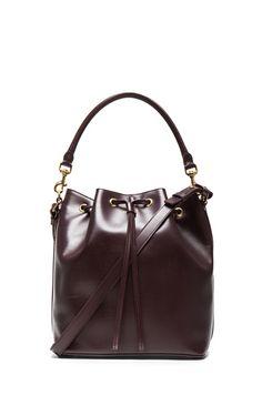 Saint Laurent Medium Bucket Bag in Bordeaux | FWRD