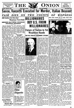 August 23, 1927 - The Onion - America's Finest News Source