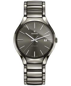 Rado Men's Swiss Automatic True Plasma Ceramic Bracelet Watch 40mm R27057102