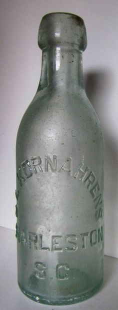 ANTIQUE CHARLESTON, SOUTH CAROLINA, C.L. KORNAHRENS,  SODA BOTTLE. EARLY 1900'S