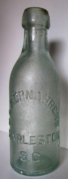 ANTIQUE CHARLESTON, SOUTH CAROLINA, C.L. KORNAHRENS,  SODA BOTTLE. EARLY 1900'S
