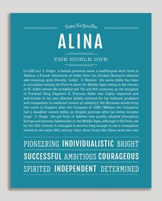 """Personalized Name Prints From A-Z – Tagged """"female"""" – Page 118 – Name Stories Thing 1, Tarot, Classic Names, Descriptive Words, Customer Stories, Name Art, Names With Meaning, New Names, Baby Names"""