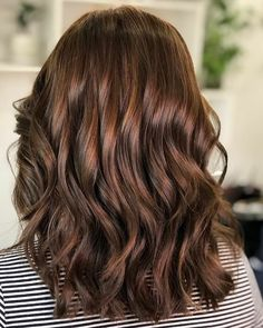 If you got thick tresses, color them with a shade of warm mahogany with cinnamon highlights. Such a hair density can enhance the hue's richness. Mahogany Brown Hair Color, Medium Brown Hair With Highlights, Rich Brown Hair, Mahogany Hair, Brown Hair Shades, Short Brown Hair, Hair Color Shades, Hair Color Highlights, Mahogany Highlights