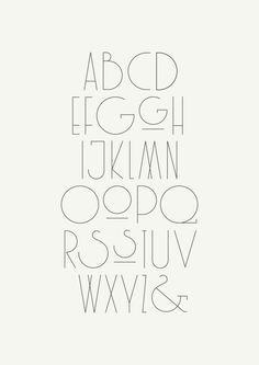 Modern meets 1920 typography