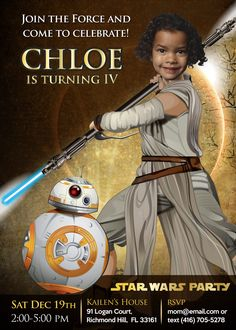 Join The Force To Celebrate Her Star Wars Party Turn Your Girl Into A Jedi