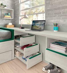 Room Design, Tiny Bedroom Design, Kids Bedroom Designs, Room Makeover, Kids Room Desk, Kids Room Design, Interior Design Bedroom Teenage, Bedroom Design, Bedroom Deco