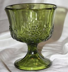 Green Grape Leaf Vase by Indiana Glass on Etsy, $9.00
