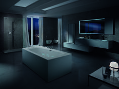 A night view for Outline #bathtub. A dreaming atmosphere! #whirlpool #hydroline