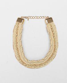 Collier plastron cordes