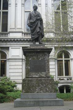 Boston Freedom Trail, Old City Hall, Josiah Quincy III statue