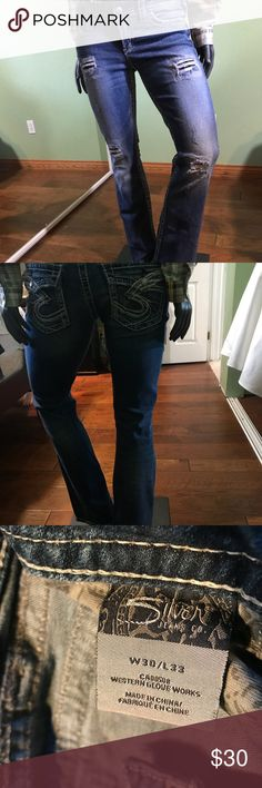 """W's silver Jeans pioneer Brand new.  Rise 8"""" Length 39"""" Inseam 33"""" Waist 30"""" Silver Jeans Jeans"""