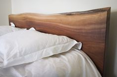 Solid Walnut Headboard by hedgehouse on Etsy, $775.00