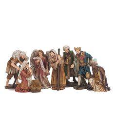 Another great find on #zulily! Nativity Seven-Piece Figurine Set #zulilyfinds