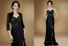Take a look at this amazing Special Occasion dress with shawl | Rina Di Montella, style 1739 http://RinaDiMontella.com/view.php?cat=mother-of-the-bride=1739  SATEEN AND BEADED GOWN W/JACKET AND SHAWL Colors: BLACK, SILVER, TAUPE Size: 4-28