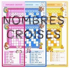 "IPOTÂME ....TÂME: CP / CE1/ CE2 : jeu maths ""les nombres croisés"" Teacher Lesson Plans, Primary Maths, Math Addition, Math Numbers, Cycle 3, Teaching French, Fun Math, Home Activities, Teaching Math"
