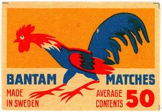 https://flic.kr/p/7cEtaf | Match Box Label, Bantam | Sweden vintage