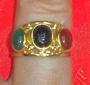 Vintage 14K Yellow Mid Century Gold & Scarab Stones by joolaholic