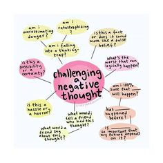 It's important to challenge negative thoughts when they arrive Mental Health Anxiety Management Encouragement Anxiety Tips Selfcare Mental And Emotional Health, Mental Health Matters, Mental Health Awareness, Health Anxiety, Anxiety Tips, Anxiety Help, Lifehacks, Trauma, Ptsd