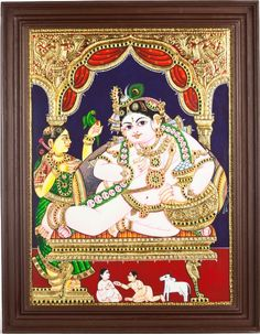 #Thanjavur has a rich history with UNESCO World Heritage #Monuments, paintings, bronze #art, wooden #sculptures, #dance and #music. #TanjorePainting   #SouthIndianArt