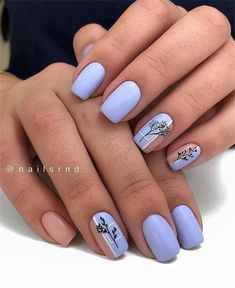 60 best natural short square nails design for summer nails - hairdressing . - 60 best natural short square nails design for summer nails – Hairdressing hairstyles … – 60 B - Square Nail Designs, Short Nail Designs, Cute Nail Designs, Green Nail Designs, Cute Acrylic Nails, Cute Nails, Pretty Nails, Hair And Nails, My Nails