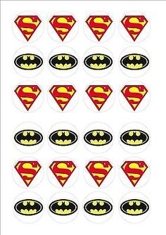 #Batman & superman logo edible fairy cup cake #decoration #toppers rice paper x 2,  View more on the LINK: http://www.zeppy.io/product/gb/2/131562018999/
